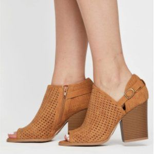 ☾ ONLY 1 LEFT! Princess Polly Cut Out Tan Bootie